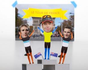 Cadel Evans Wins The Tour de France!