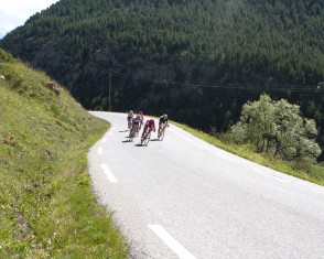 Group of riders Descends the Col D'izoard