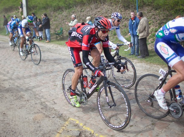 Hincapie at Flanders 2012