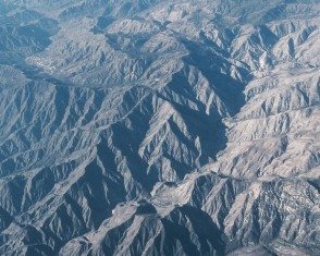 San Gabriel Mountains (aerial view)