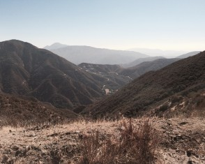 San Gabriel Mountains (just beyond the gates)